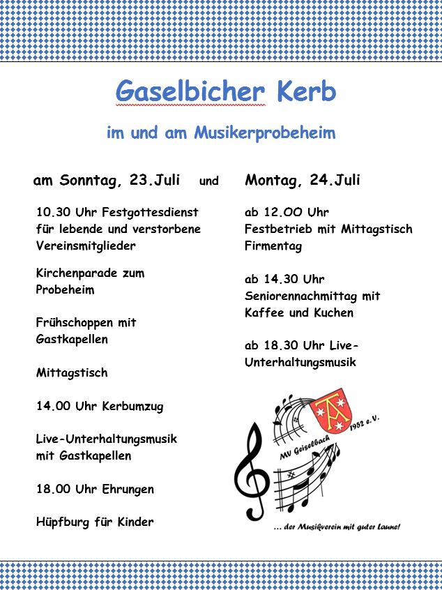 """Auftritt """"Gaselbicher Kerb"""" @ Musikerprobeheim Geiselbach   Geiselbach   Bayern   Deutschland"""