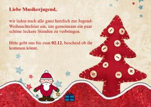 Jugend-Weihnachtsfeier @ Proberaum